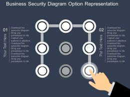 hd Business Security Diagram Option Representation Flat Powerpoint Design
