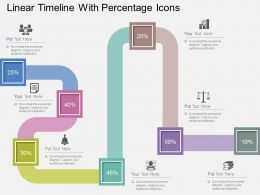 Hd Linear Timeline With Percentage Icons Flat Powerpoint Design