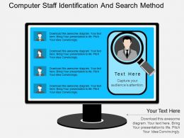 he Computer Staff Identification And Search Method Flat Powerpoint Design