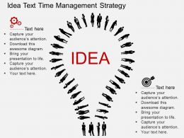 He Idea Text Time Management Strategy Flat Powerpoint Design