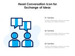 Head Conversation Icon For Exchange Of Ideas