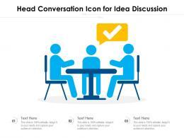 Head Conversation Icon For Idea Discussion