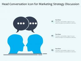 Head Conversation Icon For Marketing Strategy Discussion