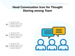 Head Conversation Icon For Thought Sharing Among Team