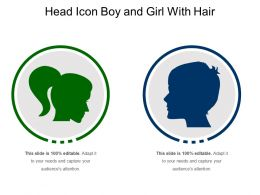 Head Icon Boy And Girl With Hair