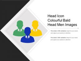 Head Icon Colourful Bald Head Men Images