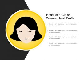 Head Icon Girl Or Women Head Profile