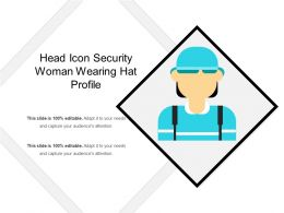Head Icon Security Woman Wearing Hat Profile