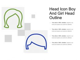 Head Icon Showing Girl And Boy Hair Outline