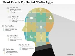 Head Puzzle For Social Media Apps Flat Powerpoint Design
