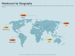 Headcount By Geography America M1794 Ppt Powerpoint Presentation Model Picture