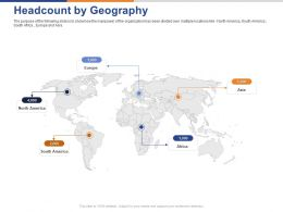 Headcount By Geography Ppt Powerpoint Presentation Infographics Elements