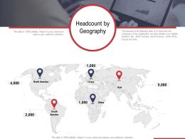 Headcount By Geography Ppt Powerpoint Presentation Show Slide Download