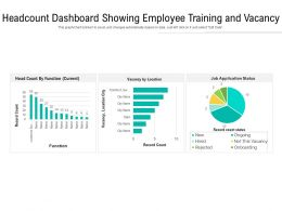 Headcount Dashboard Showing Employee Training And Vacancy