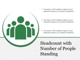 Headcount With Number Of People Standing