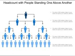 Headcount With People Standing One Above Another