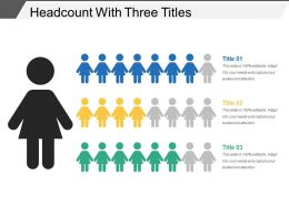 Headcount With Three Titles