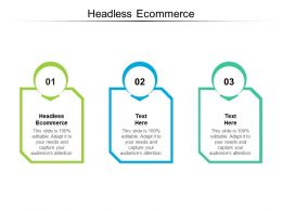 Headless Ecommerce Ppt Powerpoint Presentation Summary Diagrams Cpb