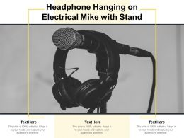 Headphone Hanging On Electrical Mike With Stand