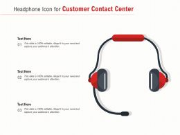 Headphone Icon For Customer Contact Center