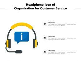 Headphone Icon Of Organization For Costumer Service