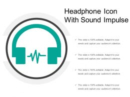 Headphone Icon With Sound Impulse