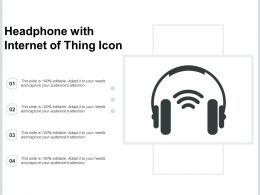 Headphone With Internet Of Thing Icon