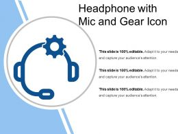 Headphone With Mic And Gear Icon