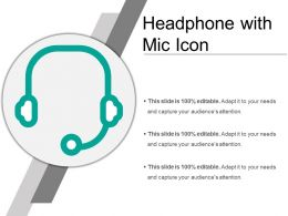 Headphone With Mic Icon