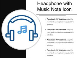 Headphone With Music Note Icon