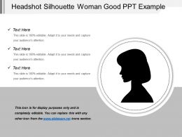 Headshot Silhouette Woman Good Ppt Example