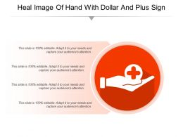 Heal Image Of Hand With Dollar And Plus Sign