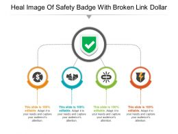 Heal Image Of Safety Badge With Broken Link Dollar