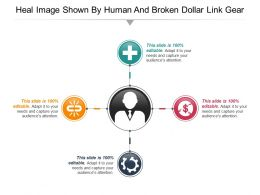 Heal Image Shown By Human And Broken Dollar Link Gear