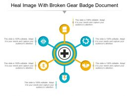 Heal Image With Broken Gear Badge Document