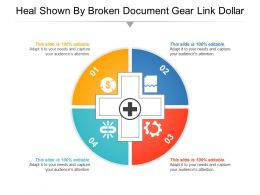 Heal Shown By Broken Document Gear Link Dollar