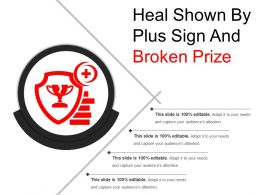 Heal Shown By Plus Sign And Broken Prize