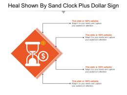Heal Shown By Sand Clock Plus Dollar Sign