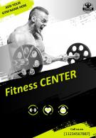 Health And Fitness Gym Two Page Brochure Template