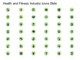 Health And Fitness Industry Icons Slide Ppt Powerpoint Presentation Microsoft