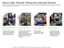 Health And Fitness Industry Service Type Personal Training And Instruction Services Ppt Sample