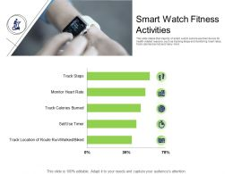 Health And Fitness Industry Smart Watch Fitness Activities Ppt Powerpoint Presentation Portfolio
