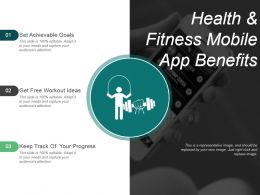 Health And Fitness Mobile App Benefits Ppt Slide Styles