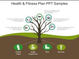 Health And Fitness Plan Ppt Samples