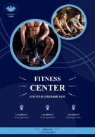 Health And Fitness Promotion Two Page Brochure Flyer Template