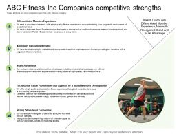 Health And Industry ABC Fitness Inc Companies Competitive Strengths Ppt Powerpoint Presentation Slide