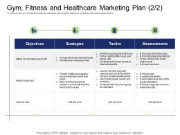 Health And Industry Gym Fitness And Healthcare Marketing Plan Blog Ppt Powerpoint Presentation Elements