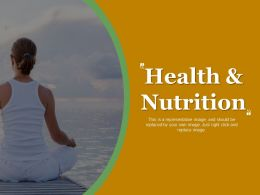 Health And Nutrition Ppt Design Templates