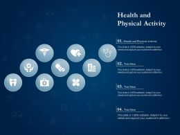 Health And Physical Activity Ppt Powerpoint Presentation Ideas Example Introduction