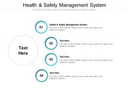 Health And Safety Management System Ppt Powerpoint Presentation Pictures Objects Cpb